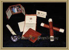 medieval weddings, hand made mwedieval wedding invitations