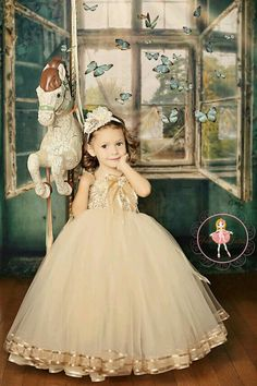 Items similar to Jacqueline flower girl tutu dress in taupe, custom colors available - Vintage Romance collection 2013 on Etsy
