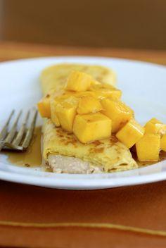 Maui Mango Coconut Cottage-Cream Cheese Blintzes