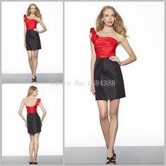 Resultado de imagen para vestido negro y rojo corto