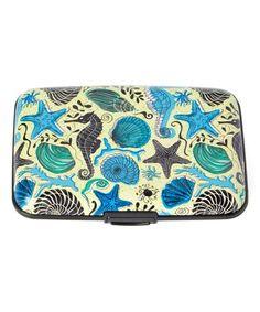 Look at this #zulilyfind! Yellow Blue Seahorses Armored Wallet #zulilyfinds