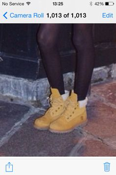 Timberlands with fur