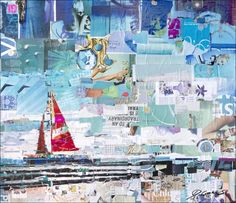 Perfect Day Art Prints: Collage Art by Derek Gores Originals and Signed, limited edition archival prints Collage Artwork: Collage Art by Derek Gores Originals and Prints more at www.derekgores.com #collage #fashion #fashionart #recycle #figurative  #nautical #sailing #sailingart #modern #miami #sexy #derekgores @derekgores https://www.facebook.com/DerekGoresArtist