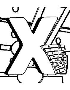 letter x coloring pages preschool printables for kids Kindergarten