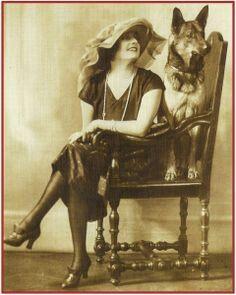 Vintage Photo woman & GSD