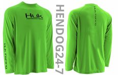 HUK MEN'S ICON GREEN RAGLAN PERFORMANCE SHIRT SIZE 3XL MSRP $34.99 W/FLAW #Huk #ShirtsTops
