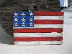 Patriotic Pallet Art. Handpainted and distressed.  by Vintage 33