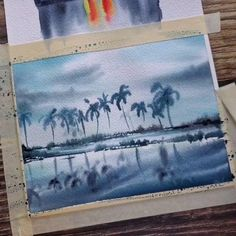 Watercolor Paintings For Beginners, Watercolor Art Lessons, Abstract Watercolor, Watercolor Illustration, Art Painting Gallery, Artist Painting, Painting & Drawing, Canvas Art Projects, Diy Canvas Art