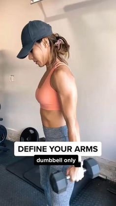 Arm Workout Videos, Workout Videos For Women, Fitness Workout For Women, Gym Workouts, Arm Workouts At Home, Workout Routines For Women, Yoga Fitness, Fitness Motivation, Fitness Goals
