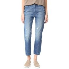 Vince Slouch Carpenter Jeans ($275) ❤ liked on Polyvore featuring jeans, saggy jeans, carpenter jeans, slouchy jeans, slouch jeans and blue jeans