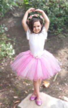 720e3151d20e6 Flower Girl Tutu Skirt - Pink Tutu - Custom Sewn 13