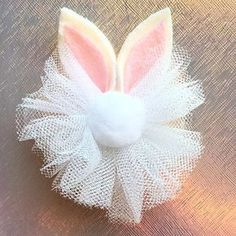 Easter Bunny Ear Bow/ Baby Headband/ Easter by bebellabowtiquee