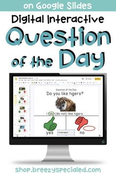 Digital or print versions of daily questions with visuals for students to interact with during distance learning or the regular school year! Resource Room Teacher, Teacher Tools, Life Skills Classroom, Special Education Classroom, Question Of The Day, This Or That Questions, Morning Meeting Activities, Special Needs Students, Learning Activities