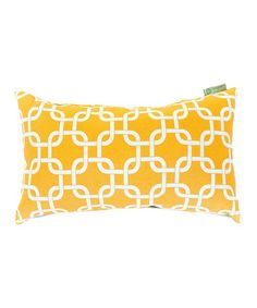 Take a look at this Yellow Links Rectangular Indoor/Outdoor Pillow by Majestic Home Goods on #zulily today!