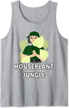Amazon.com: Houseplant Jungle Funny Plant Obsession House Plants Tank Top : Clothing, Shoes & Jewelry Houseplant, Edgy Outfits, Cool Tees, Fashion Brands, Amazon, Funny, Clothing, Plants, Shoes