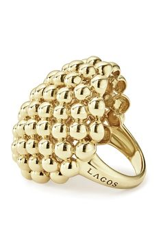 LAGOS Jewelry - Love this 18k gold statement ring! The caviar beading is stylish and trendy.