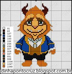 Disney Beauty and the Beast cross stitch. Just Cross Stitch, Beaded Cross Stitch, Cross Stitch Baby, Crochet Cross, Cross Stitch Charts, Cross Stitch Designs, Cross Stitch Embroidery, Cross Stitch Patterns, Disney Stitch