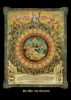 A Holy Dial of the Passion of our Lord's Passion and Death   Timeline of Jesus' Final Hours