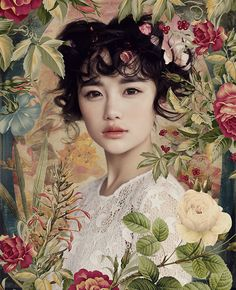Portrait Photography Inspiration : ❀ Flower Maiden Fantasy ❀ beautiful photography of women and flowers -… - Beauty Photography Beauty Photography, Photography Women, Portrait Photography, Asian Photography, Portrait Fotografie Inspiration, Fotografie Portraits, Photo Portrait, Japanese Flowers, Asian Flowers