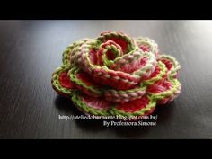 How to Crochet Pretty Rose Flower (Video) -