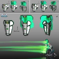 Sci Fi Armor, Sci Fi Weapons, Weapon Concept Art, Batman Armor, Armas Ninja, Max Steel, Science Fiction, Arte Robot, Future Weapons