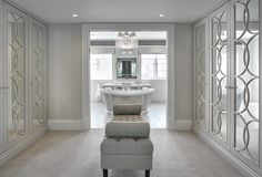 Find the very best dressing room suggestions, formats & motivation to match your design. Browse through images of dressing rooms & storeroom to produce your ideal house. Luxury Wardrobe, Mirrored Wardrobe, Luxury Closet, Walk In Wardrobe, Walk In Closet Design, Bedroom Closet Design, Master Bedroom Closet, Closet Designs, Bathroom Closet