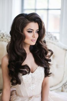 SHOP this #hairinspiration today!  Be beautiful and flaunt lovely tresses for your #fall or #winter #wedding >>> SHOP clip-ins, wefts and I-tips starting at $69.99! GO   #ONYCHair #hairstyles #weddinghair #fallbeauty #hair #bighair