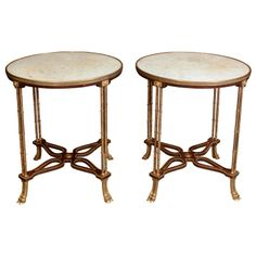 Pair of Louis XVI Gueridons | From a unique collection of antique and modern gueridon at http://www.1stdibs.com/furniture/tables/gueridon/