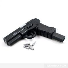 Semi-Automatic Pistol - Lego Compatible Gun