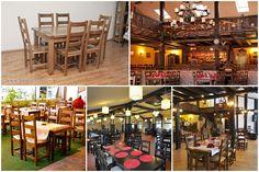 Scaune si mese din lemn masiv pentru restaurant