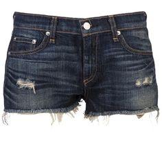 Rag & Bone The mila blue denim shorts ❤ liked on Polyvore