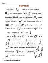 Body Parts Pictorial Story - Free Printable