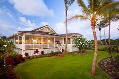 Hawaiian plantation style home on Kauai