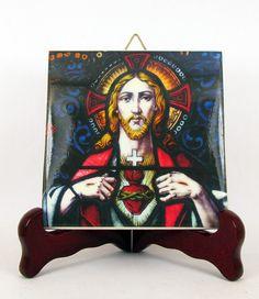 Sacred Heart of Jesus - religious gift idea - handmade in Italy - catholic art - catholic gifts - Jesus Christ - Jesus art - catholicism
