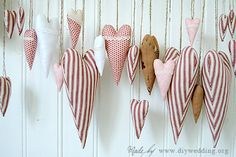 fabric hearts from diywedding.com