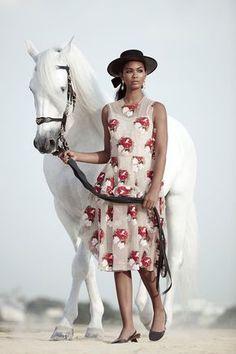 TopMmodel Chanel Iman shows off her elegant side for the November 2015 cover story from Harper's Bazaar Arabia
