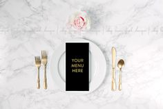 Check out Black & White Menu Placement Image by shoplemonfresh on Creative Market