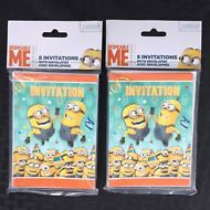 Despicable Me Minions Party Invitations 2 Packs of 8 with Envelopes