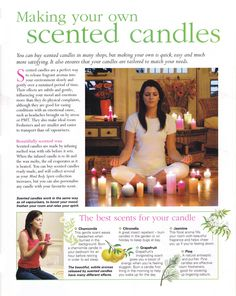 Making your own scented candles