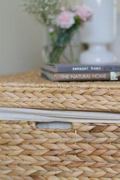 Wovenhill natural rattan storage trunk + texture | Lisa Hjalt