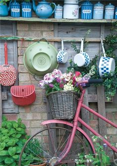 Flowers in Bicycle Basket - this was styled and photographed at my house...shame i was never credited on any of the work though!