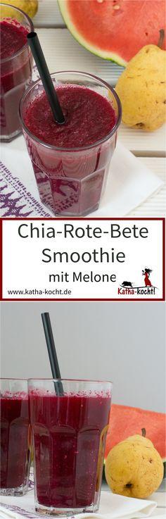 Chia-Rote-Bete Smoothie mit Wassermelone - katha-kocht!