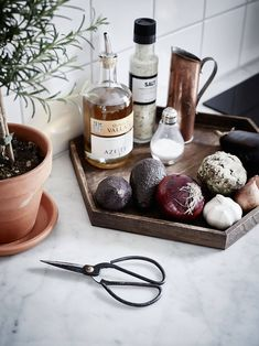 Kitchen counter styling inspiration for spices