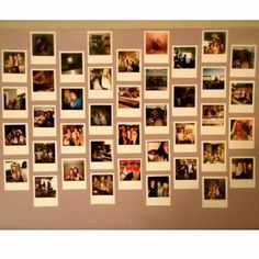 DIY Polaroid Wall