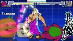 Zeus The God Of Thunder & Batman VS Barney The Dinosaur & Annoying Orange In A MUGEN Match / Battle This video showcases Gameplay of The Annoying Orange And Barney The Dinosaur From The Barney & Friends Series VS Zeus The God Of Thunder From Hercules The Animated Series And Batman The Superhero In A MUGEN Match / Battle / Fight