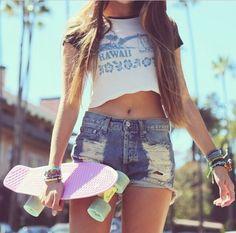 skater girl w/ penny board