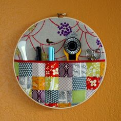Hanging Hoop Wall Pocket Swap by Korolewishna - I love this!