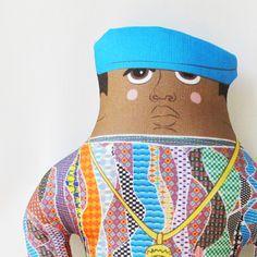 Biggie - Pillow doll from Late Greats for $36.00 Renegade Craft Fair, Craft Fairs, Creative Inspiration, Children, Kids, Etsy Seller, Plush, Dolls, Pillows