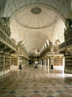 The Library of Mafra Convent - Lisbon Region, Portugal