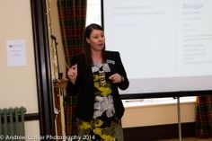 Dawn Beschorner from Howard Worth, providing a presentation at the event